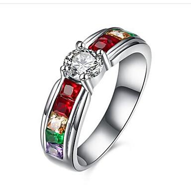 Ring Kubikzirkonia Imitation Diamant Modisch Edelstahl Runde Form Schmuck Für Alltag Normal 1 Stück