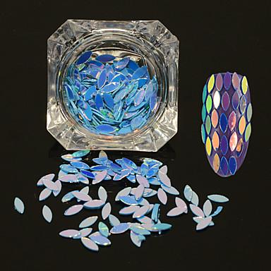 0.2g / sticlă nouă modă strălucitoare cal ochi frunze paillette design decor fermecător diy gratios unghii art glitter paiete fulgi mb12