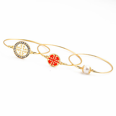للمرأة أساور السلسلة والوصلة الصداقة موضة حجر الراين سبيكة Round Shape مجوهرات من أجل زفاف حزب عيد ميلاد