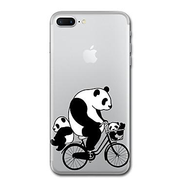 Maska Pentru Apple Transparent Model Carcasă Spate Panda Moale TPU pentru iPhone 7 Plus iPhone 7 iPhone 6s Plus iPhone 6 Plus iPhone 6s