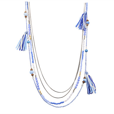 للمرأة شكل قديم بوهيميان تركي مصنوع يدوي euramerican في موضة قلادات السلسلة مجوهرات سبيكة قلادات السلسلة زفاف الذكرى السنوية عيد ميلاد