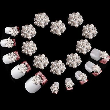 10 stuks diamant sneeuwvlok super glanzende nagel decoraties