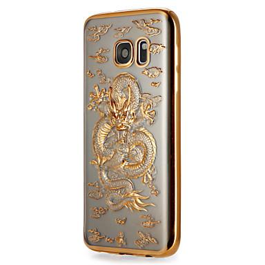Hülle Für Samsung Galaxy S7 edge / S7 Beschichtung / Muster Rückseite Tier Weich TPU für S7 edge / S7