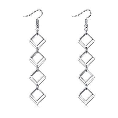 Dames Druppel oorbellen - Euramerican / Modieus / Eenvoudige Stijl Zilver Geometrische vorm oorbellen Voor Feest / Verjaardag