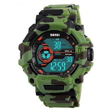 SKMEI Bărbați Ceas Sport Ceas Militar Ceas de Mână Piloane de Menținut Carnea LCD Calendar Rezistent la Apă Zone Duale de Timp alarmă