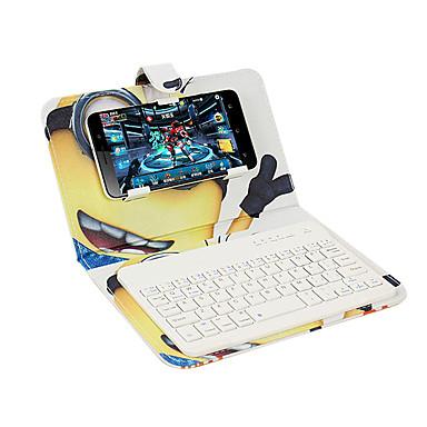 Hülle Für Apple mit Halterung mit Tastatur Flipbare Hülle Muster Handyhülle für das ganze Handy Cartoon Design Hart Kunst-Leder für