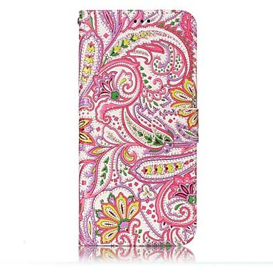 hoesje Voor Samsung Galaxy S8 Plus S8 Kaarthouder Portemonnee met standaard Flip Patroon Reliëfopdruk Volledig hoesje Bloem Hard PU-nahka