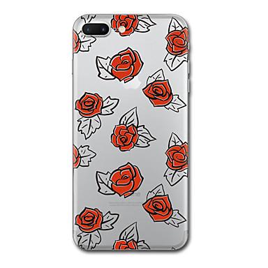 Hülle Für Apple Transparent Muster Rückseitenabdeckung Anwendung Blume Weich TPU für iPhone 7 plus iPhone 7 iPhone 6s Plus iPhone 6 Plus