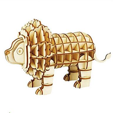قطع تركيب3D تركيب الخشب نموذج ألعاب حيوان 3D اصنع بنفسك خشب الخشب الطبيعي غير محدد قطع