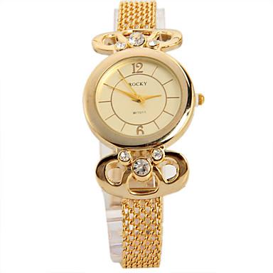 Dames Modieus horloge Unieke creatieve horloge Gesimuleerd Diamant Horloge Chinees Kwarts imitatie Diamond Metaal Band Glitter Zwart Goud