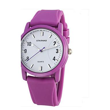 Dames Modieus horloge Kwarts Rubber Band Informeel Zwart Roze Paars