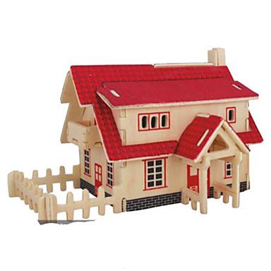 3D - Puzzle Metallpuzzle Holzmodell Modellbausätze Spielzeuge Architektur Heimwerken Naturholz keine Angaben Stücke