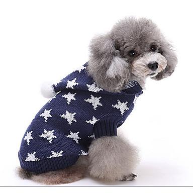 Câine Pulovere Îmbrăcăminte Câini Casul/Zilnic Geometric Negru Albastru Închis Rosu Verde Roz Costume Pentru animale de companie