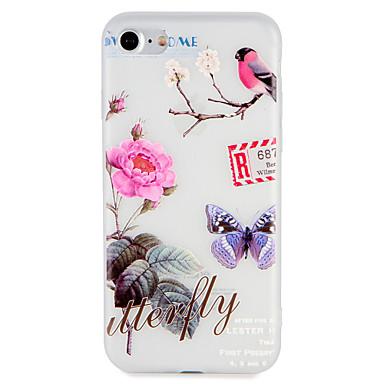 Fall für Apfel iphone 7 plus 7 Abdeckung geprägtes Muster zurück Abdeckung Fall Blume Tier Baum weich tpu 6s plus 6 plus 6s 6 5 5s