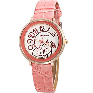Dames Modieus horloge Kwarts Waterbestendig PU Band Blauw Roze Paars