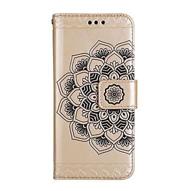 hoesje Voor Apple iPhone 8 iPhone 8 Plus Kaarthouder Portemonnee met standaard Flip Magnetisch Patroon Reliëfopdruk Volledig hoesje