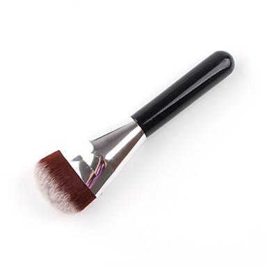 1pc Puderpinsel Grundlagen Pinsel Künstliches Haar Aluminium Holz Grundierungen Puder Gesicht