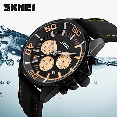 Недорогие Часы на кожаном ремешке-Муж. Спортивные часы Армейские часы Смарт Часы Кварцевый Цифровой Натуральная кожа Разноцветный 50 m Календарь Секундомер Творчество Аналоговый Кулоны Классика На каждый день Мода Нарядные часы -