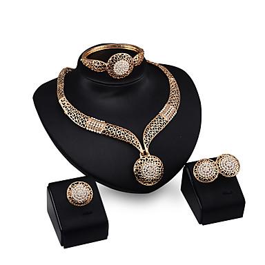 Pentru femei Seturi de bijuterii Ștras Ștras Placat Auriu Aliaj Pătrat Altele Personalizat Lux Vintage Bijuterii Statement Euramerican