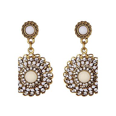 Dames Druppel oorbellen Imitatie Parel Uniek ontwerp Cirkel Eenvoudige Stijl Acryl Kunstdiamanten Rond Sieraden Dagelijks Causaal