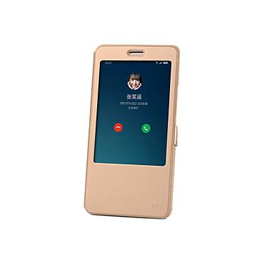 Voor xiaomi mi max case cover met standaard met windows flip auto slaap / wakker full body case solid color hard pu leer