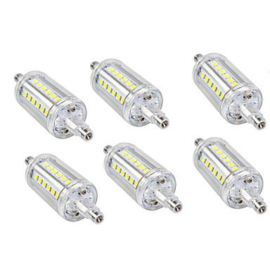 6PCS 5W 150lm أضواء LED ذرة 36 الخرز LED SMD 2835 أبيض دافئ أبيض كول 110-240V 110-120V 220-240V