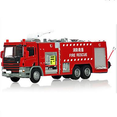 KDW Jucării pentru mașini Vehicul Die-cast Jucarii Motocicletă Tren Vehicul Pompieri Jucarii Dreptunghiular Tren Mașini de Pompiere Aliaj