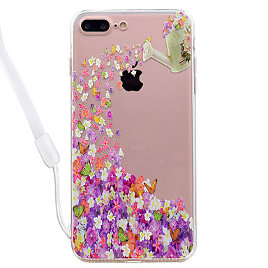 Maska Pentru Apple Transparent Model Carcasă Spate Fluture Floare Greu Acrilic pentru iPhone 7 Plus iPhone 7 iPhone 6s Plus iPhone 6 Plus