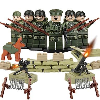 DILONG Bouwblokken Blokken minifiguren Educatief speelgoed Krijger Kinderen Unisex Geschenk