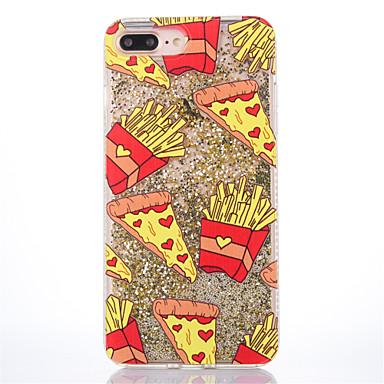 Hoesje voor iphone 7 plus 7 hoesje transparant patroon achterhoes hoesje hamburgers french fries glitter glans harde pc voor 6s plus 6s 6
