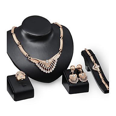 Pentru femei Zirconiu Cubic Set bijuterii - Zirconiu, Ștras, Placat Auriu Personalizat, Lux, Vintage Include Auriu Pentru Petrecere / Ocazie specială / Inaugurare a unei case
