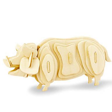 3D - Puzzle Holzpuzzle Holzmodell Spielzeuge Schwein Dinosaurier Flugzeug Tier 3D Heimwerken Hölzern Holz keine Angaben Unisex Stücke