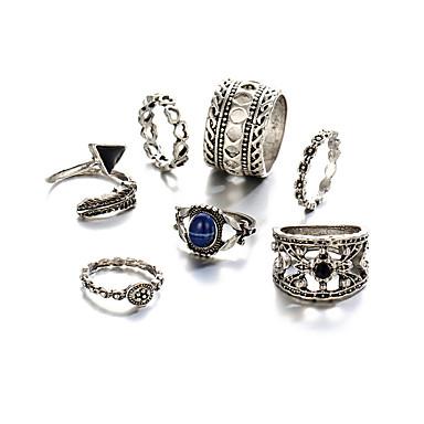 Heren Dames Ring Vintage Punk-stijl Kostuum juwelen Hartvorm Driehoekige vorm Sieraden Voor Feest Verjaardag Feest/Uitgaan