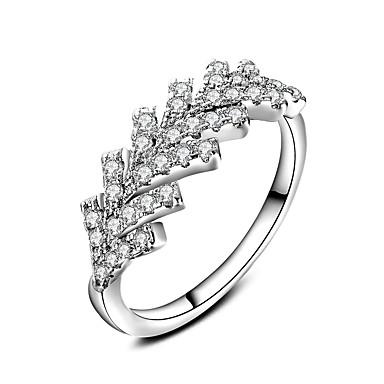 للمرأة خاتم مجوهرات تصميم دائري كلاسيكي دائرة الصداقة euramerican في أسلوب بسيط تصفيح بطلاء الفضة دائري مجوهرات زفاف المكتب \ الوظيفة