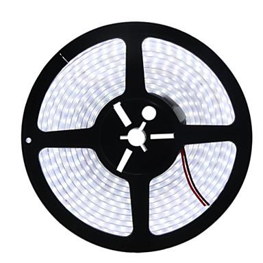 HKV Fâșii De Becuri LEd Flexibile 600 LED-uri Alb Cald Alb Rezistent la apă DC 12V