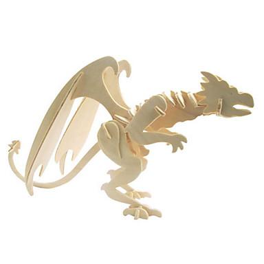 3D-puzzels Legpuzzel Houten modellen Modelbouwsets Dinosaurus Dier 3D Simulatie DHZ Hout Natuurlijk Hout Klassiek Kinderen Unisex Geschenk
