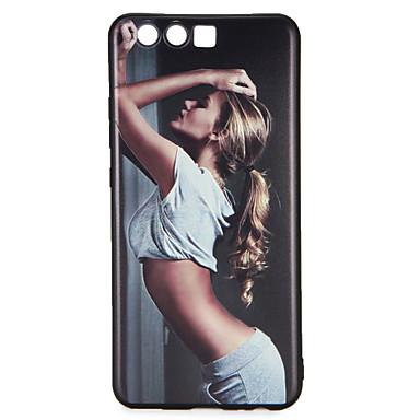 hoesje Voor Huawei Patroon Achterkant Sexy dame Zacht TPU voor P10 Plus P10