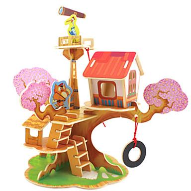 Robotime 3D-puzzels Houten modellen Modelbouwsets Huis DHZ Kaart Papier Klassiek Kinderen Unisex Geschenk