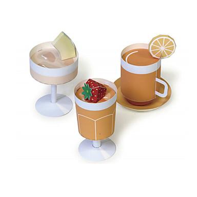 3D - Puzzle Spielessen Papiermodelle Quadratisch Lebensmittel 3D Simulation Heimwerken Klassisch Unisex Geschenk
