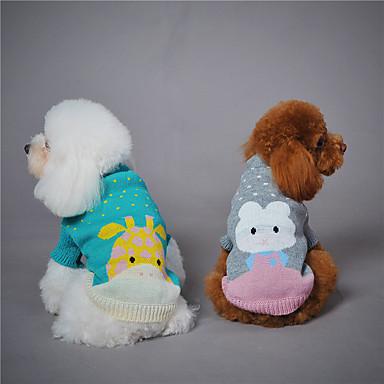 كلب كنزة ملابس الكلاب حيوان رمادي أخضر أزرق فاتح الصوفية بطانة فرو كوستيوم للحيوانات الأليفة الدفء