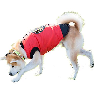 Hond Sweatshirt Hondenkleding Casual/Dagelijks Geometrisch Rood Kostuum Voor huisdieren