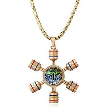 Damen Anhängerketten Synthetischer Opal Geometrische Form Aleación Personalisiert Einzigartiges Design Euramerican Schmuck Für Normal