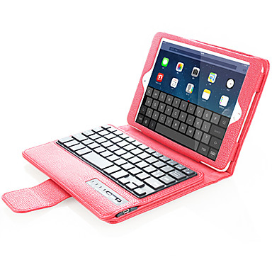 من أجل أغط / كفرات مع حامل مع لوحة مفاتيح قلب كامل الجسم غطاء لون الصلبة قاسي جلد اصطناعي إلى Apple iPad Mini 4 iPad Mini 3/2/1