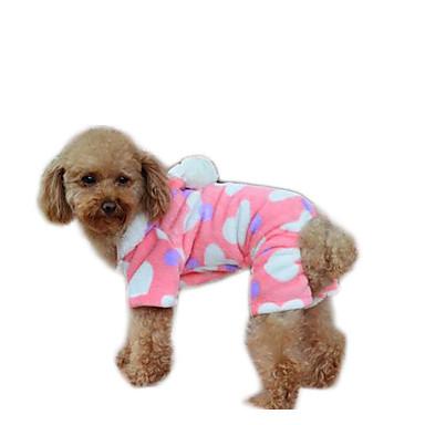 كلب المعاطف ملابس الكلاب كاجوال/يومي الدفء هندسي زهري كوستيوم للحيوانات الأليفة