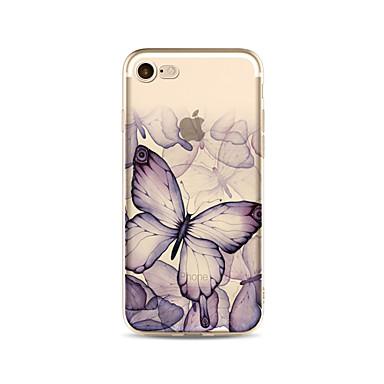 hoesje Voor Apple iPhone X iPhone 8 Plus Transparant Patroon Achterkantje Vlinder Zacht TPU voor iPhone X iPhone 7s Plus iPhone 8 iPhone