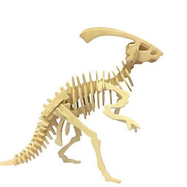 قطع تركيب3D تركيب الخشب نموذج مجموعات البناء ألعاب ديناصور حيوان 3D محاكاة اصنع بنفسك خشب الخشب الطبيعي غير محدد قطع
