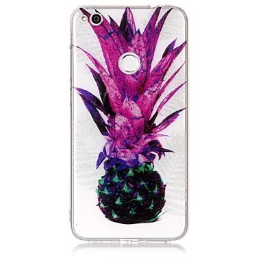 Caz pentru huawei p9 lite p8 litiu caz acoperi ananas model mare permeabilitate tpu material imd tehnologie flash praf telefon caz p8 lite