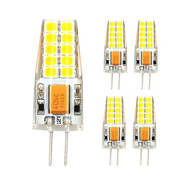 5pcs 3 W 280 lm G4 LED à Double Broches T 20 Perles LED SMD 2835 Blanc Chaud / Blanc Froid 12 V / 5 pièces