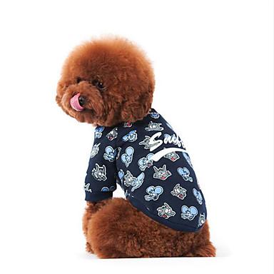 Hond Sweatshirt Hondenkleding Cartoon Katoen Dons Kostuum Voor huisdieren Heren Dames Casual / Dagelijks