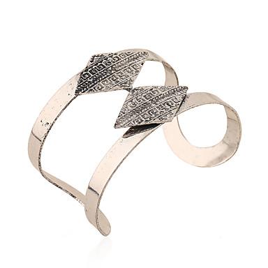 للمرأة أساور أساور اصفاد موضة عتيقة السبيكة الحديدية سبيكة معدنية سبيكة Geometric Shape مجوهرات من أجلمناسبة خاصة مناسبة / حفلة خشبة
